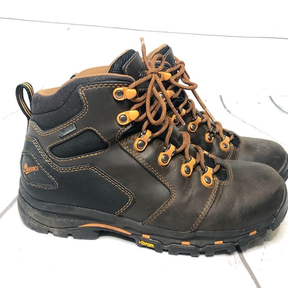 "5ea343d3320 Danner Vicious 4.5"" Brown and Orange Work Boots"